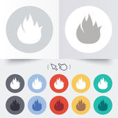 Fire flame sign icon. Fire symbol. — Stock Vector