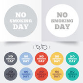 No smoking day sign icon. Quit smoking day. — Vettoriale Stock