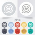 Target aim sign icon. Darts board symbol. — Stock Vector #54343593