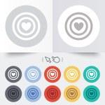 Target aim sign icon. Darts board symbol. — Stock Vector #54343601