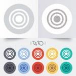 Target aim sign icon. Darts board symbol. — Stock Vector #54343605