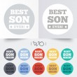 Постер, плакат: Best son ever sign icon Award symbol
