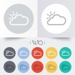 Cloud and sun sign icon. Weather symbol. — Stock Vector #54344437