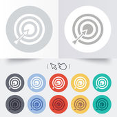 Target aim sign icon. Darts board symbol. — 图库矢量图片
