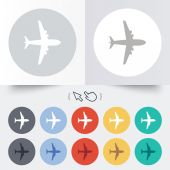 Airplane sign. Plane symbol. Travel icon. — Stock Vector