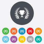 First place cup award icon. Prize for winner. — Stock Vector
