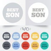 Best son sign icon. Award symbol. — Stock Vector