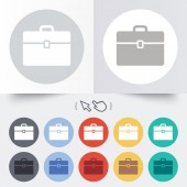Case sign icon. Briefcase button. — 图库矢量图片