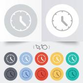Clock sign icon. Mechanical clock symbol. — 图库矢量图片