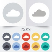 Cloud sign icon. Data storage symbol. — Stock Vector