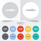 Code sign icon. Programming language symbol. — Vetorial Stock