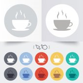 Coffee cup sign icon. Hot coffee button. — Stockvektor