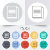 Copy file sign icon. Duplicate document symbol. — Stock Vector