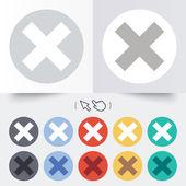 Delete sign icon. Remove button. — Vettoriale Stock