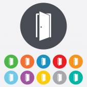 Door sign icon. Enter or exit symbol. — Stockvector
