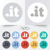 Domain IT sign icon. Top-level internet domain — Stock Vector