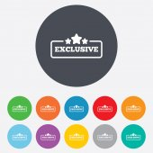 Exclusive sign icon. Special offer symbol. — Stock Vector