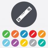 Bubble level sign icon. Spirit tool symbol. — Stock Vector