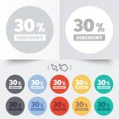 30 percent discount sign icon. Sale symbol. — Stockvektor