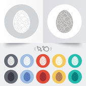 Easter egg sign icon. Easter tradition symbol. — Stock Vector
