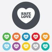 Safe love sign icon. Safe sex symbol. — Stock Vector