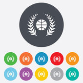 Basketball sign icon. Sport symbol. — 图库矢量图片