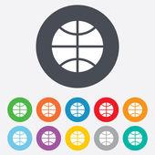 Basketbal teken pictogram. sport symbool. — Stockvector
