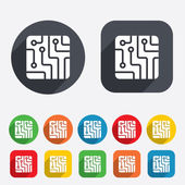 Circuit board sign icon. Technology symbol. — Stockvektor