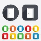 Door sign icon. Enter or exit symbol. — Stock Vector