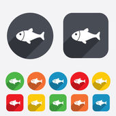Fish sign icon. Fishing symbol. — Stock Vector