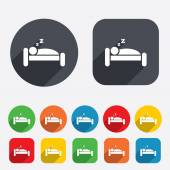 Hotel sign icon. Rest place. Sleeper symbol. — Stock Vector