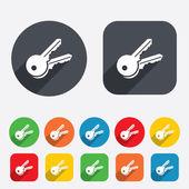 Keys sign icon. Unlock tool symbol. — Stock Vector