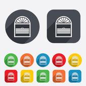 Louvers plisse sign icon. Window blinds jalousie — Stock Vector