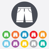 Mens Bermuda shorts sign icon. Clothing symbol. — 图库矢量图片