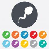 Sperm sign icon. Fertilization symbol. — Stock Vector