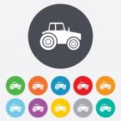 Traktör işareti simgesi. tarım tohum sanayi sembol. — Stok Vektör
