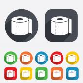 Toilet paper sign icon. WC roll symbol. — Stock Vector