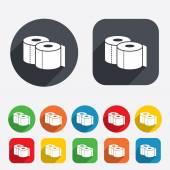 Icona del segno di carte igienica. simbolo rotolo wc. — Vector de stock