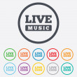 Live music sign icon. Karaoke symbol. — Stock Vector #54923225