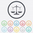 Scales of Justice sign icon. Court of law symbol — Stock Vector #54925741