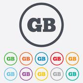 British language sign icon. GB translation. — Stock Vector