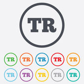 Turkish language sign icon. TR translation — Stock Vector