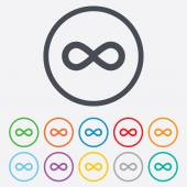 Limitless sign icon. Infinity symbol. — Stock Vector