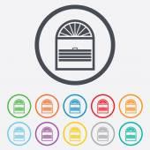 Lameller plisse tecken ikon. persienner persienner — Stockvektor