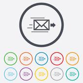 Levering postpictogram. envelop symbool. Bericht — Stockvector
