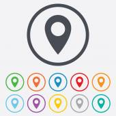 Map pointer icon. GPS location symbol. — Stock Vector