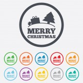Merry christmas gift sign icon. Present symbol. — Stock Vector