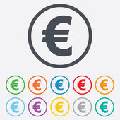Euro sign icon. EUR currency symbol. — Stock Vector