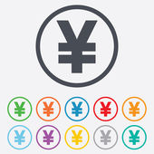Yen sign icon. JPY currency symbol. — Stock Vector