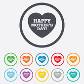 Happy Motherss Day sign icon. Mom symbol. — Stock Vector
